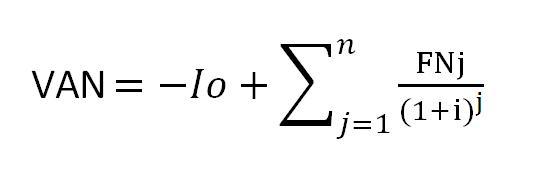 Formula del VAN