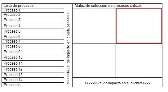 matriz de seleccion de procesos criticos