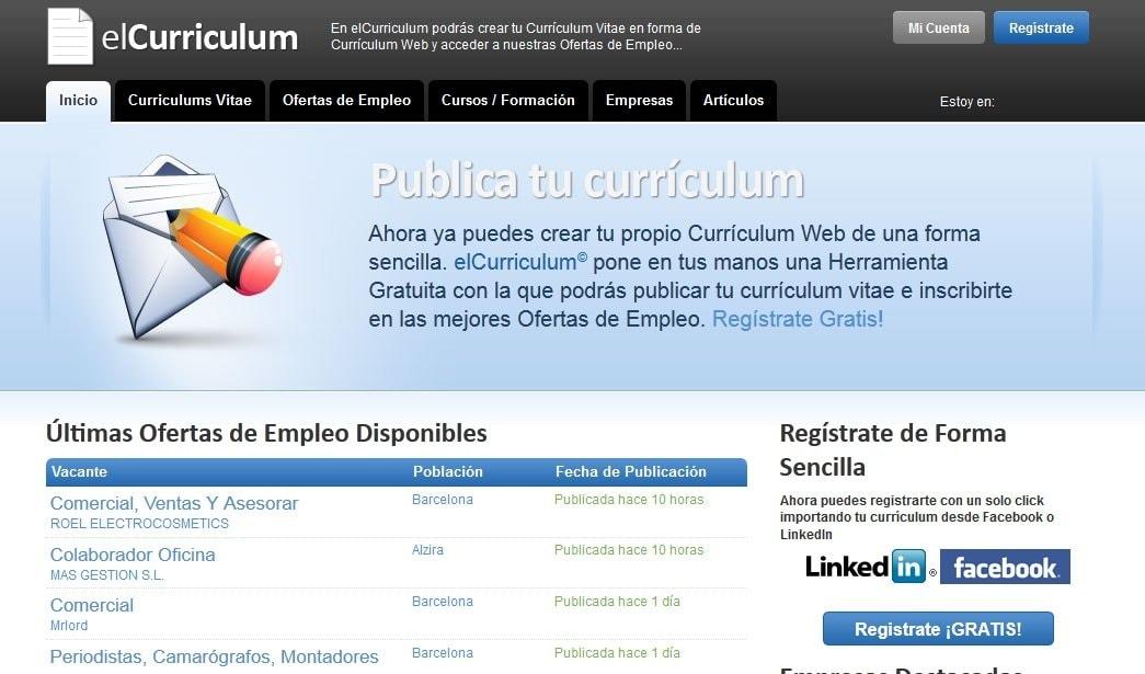 Para encontrar un buen trabajo, empieza por el currículum - Web y ...