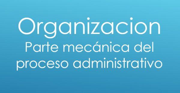 Organización - Proceso Administrativo
