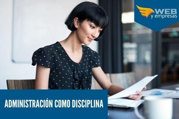 Administracion como una disciplina