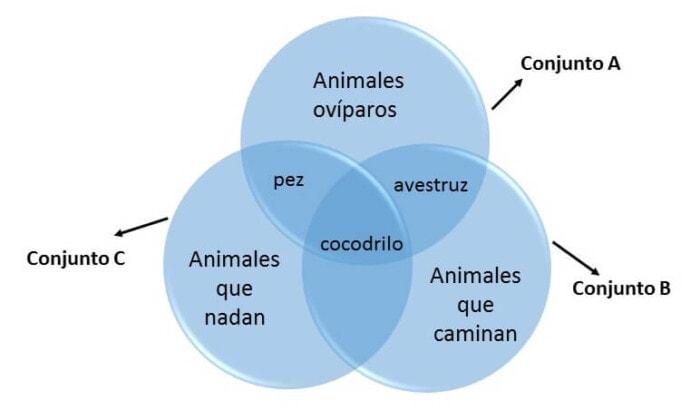 ejemplo 2 de diagrama de Venn
